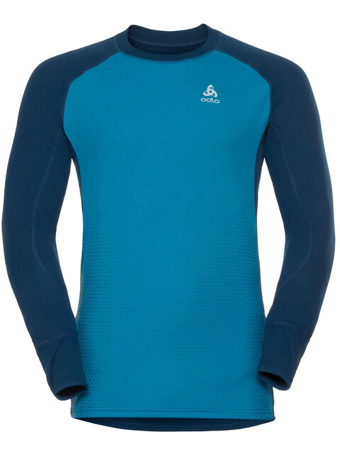 Odlo Suw Active Revelstoke LS Top Crew Men poseidon-blue jewel